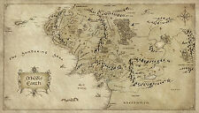 Poster – Vintage Style Map of Middle Earth (Lord of the Rings DVD Blu-Ray Film)