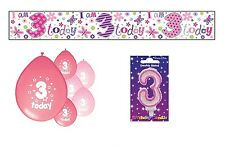 3rd BIRTHDAY PARTY PACK DECORATIONS BANNER BALLOONS (SE.P.5)