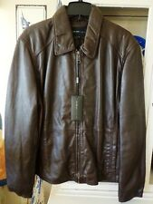 NWT Marc New York by Andrew Marc Sherman Leather Jacket Men's SZ XL Brown