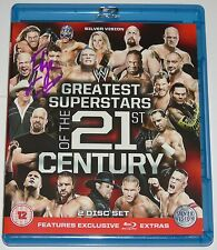 Wwe Blu Ray firmada por borde mayor superestrellas del siglo 21ST lucha libre
