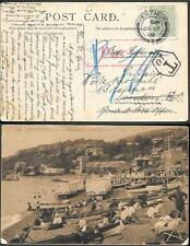 England Isle of Wight Ventnor Postage Due Postcard to Germany 1909