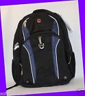 Swiss Gear Stoss Backpack BLACK/BLUE Padded Compartments, Water Bottle Pocket