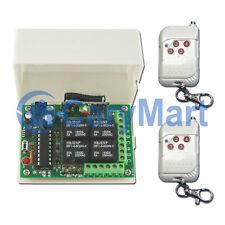 4 Canaux RF Interrupteur Télécommande Sans Fil Emetteur & Récepteur Kit 4 Modes