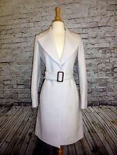 J CREW DOUBLE CLOTH BELTED TRENCH COAT SIZE-4 JACKET #E4733  VINTAGE CHAMPAGNE