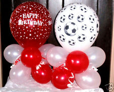 2 X BALLOON TABLE DECORATIONS DISPLAYS BOYS BIRTHDAY PARTY FOOTBALL SOCCER RED