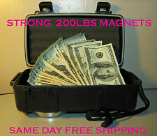Large Magnetic stash box can under car, air tight, water proof hidden safe home