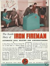 1941 IRON FIREMAN Heating A/C Boiler Stokers Heatmaker ASBESTOS History Catalog