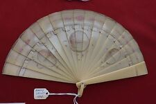 Antique Brise Hand Fan Early Celluloid Hand Painted Collector's Estate 1905 Rare