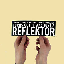 "Arcade Fire Lyric Sticker! ""Reflektor"", funeral, neon bible, the suburbs,"