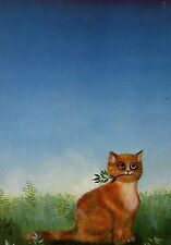POSTCARD CARTE POSTALE ILLUSTRATEUR RENATE KOBLINGER N° LA 247 CAT / CHAT