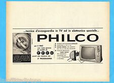 QUATTROR961-PUBBLICITA'/ADVERTISING-1961- PHILCO - TV