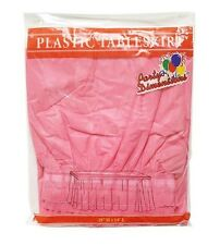 Plastic Table Skirt Hot Pink