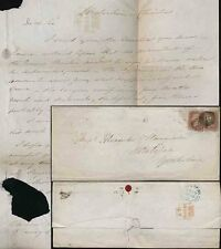 GB QV 1849 WRAPPER 2d PAID to HALIFAX from WATERHOUSE CHARITIES