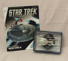 #21 Star Trek USS ENTERPRISE E Die-Cast Metal Ship-UK/Eaglemoss w Mag-FREE S&H