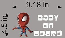 SPIDERMAN Baby on Board / Marvel Comics / car window decal/ sticker / graphics