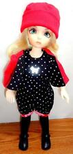 "4pc Red/Black Playtime 10"" Doll Clothes fits 1:6 YoSd BJD Tonner Patsy + Bear!"