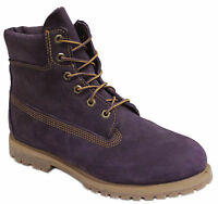 Timberland AF 6 Inch Premium Womens Girls Purple Leather Boots Lace Up 3203R U10