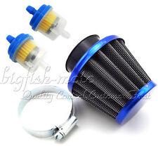 Blue 38mm Air Filter Fuel Clearner 50 110 125 cc Dirt Pit Bike ATV Moped Scooter
