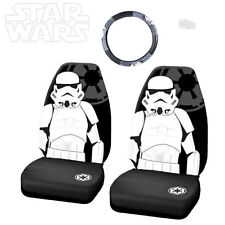 3PC STAR WARS STORMTROOPER CAR SEAT AND STEERING WHEEL COVER SET FOR JEEP