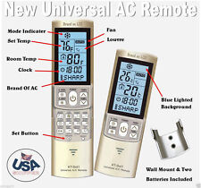 Mini Split A/C Remote Control Fits Carrier, Daikin, Gree, Haier, Mitsubishi more