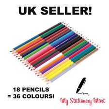 Faber-Castell Bi-Colour Pencils - 36 Colours (Pack of 18) Like Staedtler Crayola