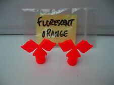 SCHWINN KRATE STINGRAY 'S  10 SPEEDS BRIGHT ORANGE VALVE STEM FLAG COVERS