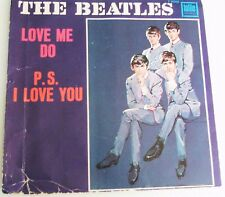 THE BEATLES - LOVE ME DO / PS I LOVE YOU TOLLIE PS and  Vinyl 45
