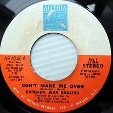 BARBARA JEAN ENGLISH 45 DON'T MAKE ME  OVER BABY I'M A WANT YOU mint minus e0823