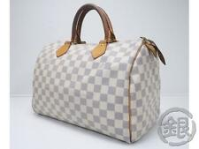 AUTH PRE-OWNED LOUIS VUITTON LV DAMIER AZUR SPEEDY 30 BOSTON BAG N41533 #160447