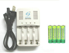4 x 1.6v 900mAh ni-zn aaa batterie rechargeable batteries + aaa aa chargeur