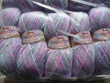 ROBIN DOUBLE KNITTING WOOL PAINTBOX MAUVE LILAC YARN 5X100G THOMAS RAMSDEN 0237