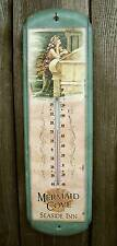 "Rustic Vtg Style Mermaid Cove 17"" Thermometer-Beach House/Ocean Wall Decor Sign"
