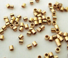 300pcs 14k Gold Filled crimp bead Micro Tubes tiny spacer 1mm made in USA GF02