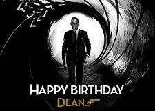 james bond birthday card  ebay, Birthday card
