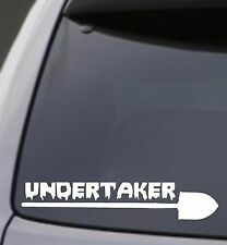 UNDERTAKER SHOVEL Vinyl Decal Sticker Car Window Wall Bumper Funny Creepy Morbid