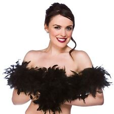20s 1920s fancy dress feather boa noir 170cm 60g clapet boa new w