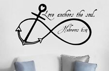 LOVE ANCHORS SOUL Wall Art Decal Quote Words Lettering Home Decor Sticker