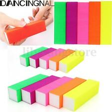 5Pcs Fluorescent Color Buffing Sanding Buffer Block Files Manicure Nail Art Tips