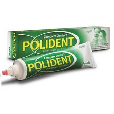 60g POLIDENT Denture Adhesive Cream Glue COMFORT REDUCE GUM IRRITATION Free Ship