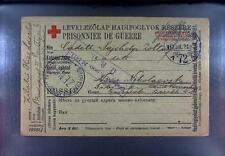 Camp 1919 Hungary to Russia POW Kriegsgefangenenpost Rotes Kreuz Red Cross 258