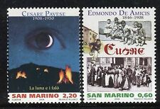SAN MARINO 2008 SCRITTORI-WRITERS/E.DE AMICIS/PAVESE/BOOKS/EYE/MOON/FLAMES/CHILD