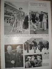 Photo article US supreme commander General Ridgway in Paris 1952 refO50s