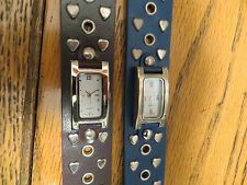 New Old Stock LeJour Lot of 2 SAMPLE DUMMY WATCHES FOR REPAIR PARTS Hearts