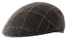 Heritage Traditions Mens Fashion Outdoor Brown Window Pane Tweed Padded Cap Hat
