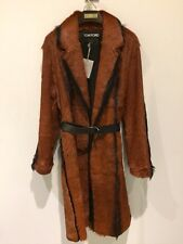 TOM FORD $17,900.00 NWT  Designer Orange & Black Goat Fur Coat  38 +  Bag