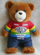 """1998 NASCAR Plush Stuffed Bear Dupont GMAC Pepsi Goodyear Racing Jumpsuit 13"""""""