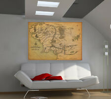"""Middle Earth GIANT WALL POSTER 57""""x39"""" ART PRINT 032al"""