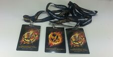 3x HUNGER GAMES CATCHING FIRE LANYARD Opening Night Double Feature