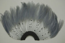 ONE FEATHER PINWHEEL - SILVER GREY Hackle Feathers; Headbands/Halloween/Craft
