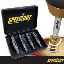 Speed Out 4pc Damaged Screw Extractor Use With Any Drill As Seen On TV SpeedOut